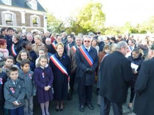 Cérémonie du souvenir: il y avait un important public  pour la commémoration du centenaire du conflit de la Grande Guerre à Sucy