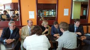 A villiers sur Marne avec les journalistes