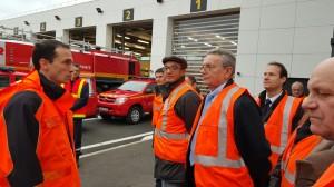 Franck Mereyd Directeur, Directeur de l'aéroport d'Orly, nous accueille au centre de secours