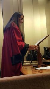 Audience solennelle du TGI  19 janvier 2016 Intervention de Madame Nathalie Bécache, Procureur de la République
